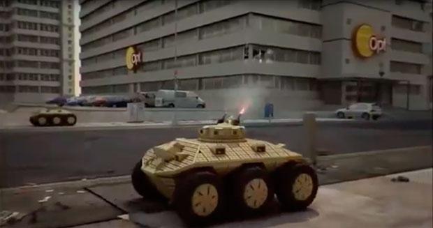 Рис.1. Боевой робот на городской улице