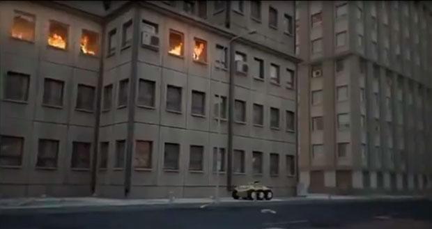 Рис.2. Боевой робот на городской улице