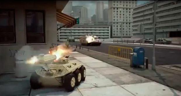 Рис.3. Боевой робот на городской улице