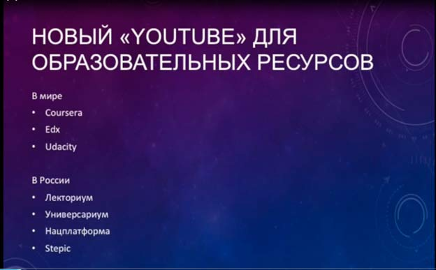 Образовательный Youtube