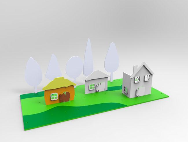 Игровая локация, компьютерная модель. Раскрашиваем первый домик
