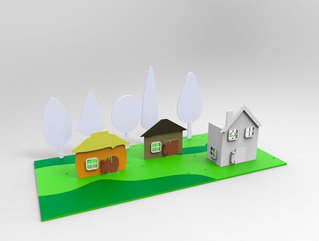 Игровая локация, компьютерная модель. Раскрашиваем второй домик