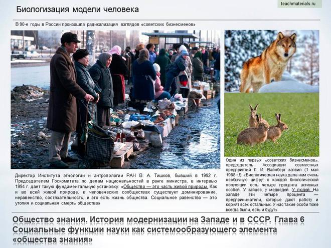 Общество знания. История модернизации на Западе и в СССР. Биологизация модели человека-4