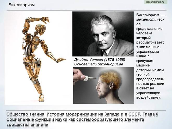 Общество знания. История модернизации на Западе и в СССР. Бихевиоризм