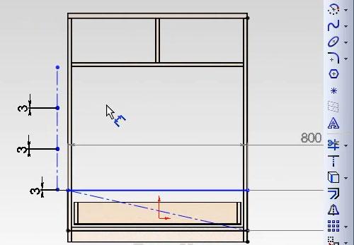 Настраиваем размеры между фасадами