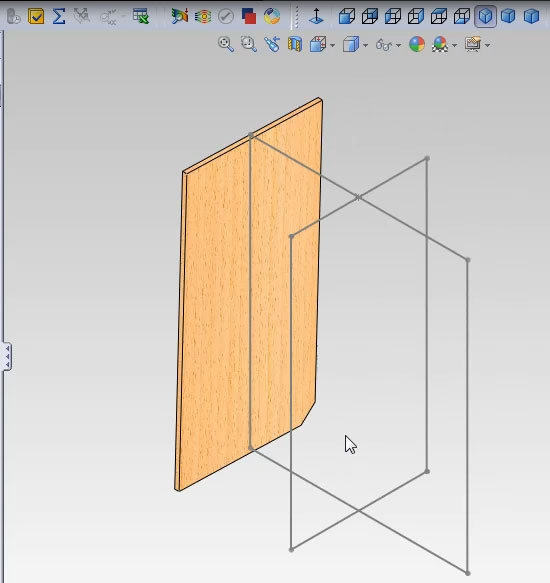 Привязываем плоскости детали к линиям 3D-эскиза