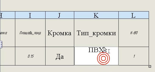 . Обратная связь чертежа с таблицей свойств работает