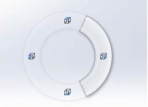 При нажатой правой кнопке мыши проводим курсором 1)вверх; 2)вниз; 3)вправо; 4)влево.