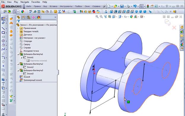 Строим 3D эскиз.