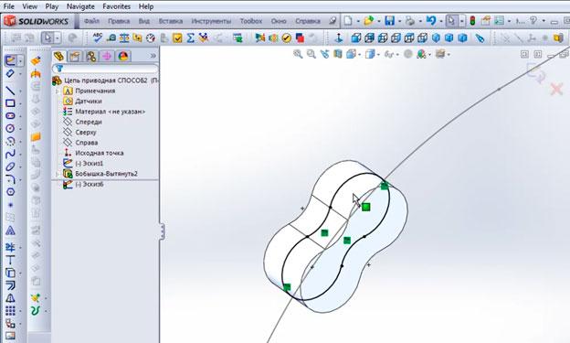 Применяем инструмент Преобразование объектов.